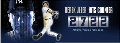 Derek Jeter Hits Counter
