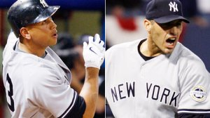 Oct 11, 2009--Alex Rodriguez hit his second homer of the ALDS; Andy Pettitte is tied for first in playoff wins. (AP)