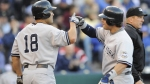 Apr 11--Johnny Damon (No. 18) and Nick Swisher combined to score five runs. (Getty)