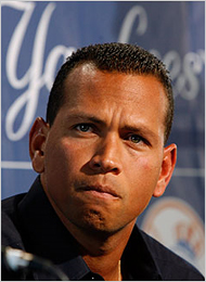 Feb 17, 2009--New York Yankees third baseman Alex Rodriguez at a press conference about his use of performance-enhancing drugs on Tuesday in Tampa, Fla.