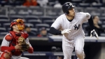 May 4--Mark Teixeira watches his second homer of the game on Monday. (AP)